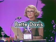 Bette Davis Accepts the AFI Life Achievement Award in 1977 Bette Davis Eyes, James Cagney, Betty Davis, Film Institute, Dean Martin, My Muse, Best Actress, In Hollywood