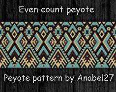 Peyote pattern - beadwork - wide peyote cuff - bracelet pattern - bead pattern