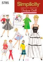Lots of options here ... dress, coats, slacks ...  #barbie #doll #vintage #pattern