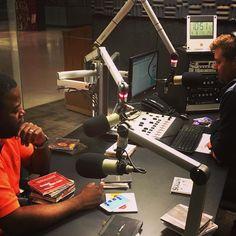 In studio with Evan Milton on Fine Music Radio in Cape Town this evening @evnm @artscapetheatre  @finemusicradio