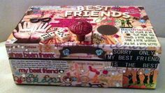"Best Friend Box Size: 8""x 5""x 3"" Hinged with Knob, Wooden #333W853(16) Handcrafted https://www.facebook.com/designby.Cas     $16.00"