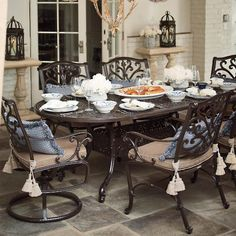 Chinoiserie Outdoor Rug See More From Frontgate Orleans 7 Pc Oval Dining Set In Chocolate Finish