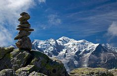 Cairn et Mont-blanc