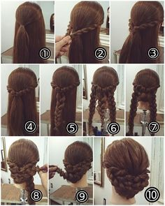 In case you are unsure about your coiffure, you might be in the suitable place. Recent Coiffure .com Get the Recent Newest, and Stylish Ideas About Braid Coiffure for Brown Hair Please don't Celebrity Hairstyles, Up Hairstyles, Pretty Hairstyles, Braided Hairstyles, Wedding Hairstyles, Braided Updo, Bridesmaid Hair, Prom Hair, Fresh Hair