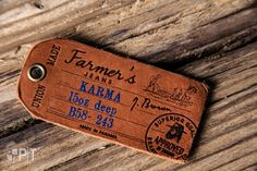 Hot printed leather hang-tag made in Italy by Panama Trimmings #denim #details #vintage #labeling