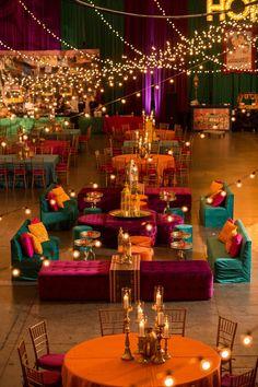 Prashe Decor is a wedding design company, specializing in floral design, linen, . Desi Wedding Decor, Wedding Hall Decorations, Backdrop Decorations, Wedding Colors, Wedding Centerpieces, Festa Tema Arabian Nights, Arabian Nights Party, Arabian Party, Arabian Decor