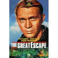 """The Great Escape"" starring Steve McQueen, James Garner, Richard Attenborough (1963)"