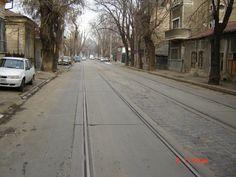 Strada Tunari, zona Stefan cel Mare, inainte de inceperea lucrarilor de reabilitare