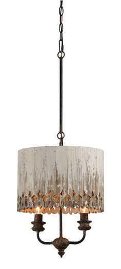 Jenna Pendant-The Sadie pendant has a wooden shade with carved detail on the edge and a stunning cottage white finish with metallic gold accents. Use this fixture in a powder room or over your kitchen island for a touch of rustic glam. Rustic Black And Multi Light Pendant, Drum Pendant, Lantern Pendant, Rustic Pendant Lighting, Pendant Lights, Kitchen Lighting Fixtures, Light Fixtures, Kitchen Pendants, Candelabra Bulbs