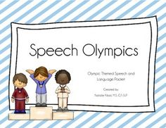 Speech Olympics: A Speech and Language Activity Packet. Repinned by SOS Inc. Resources pinterest.com/sostherapy/.