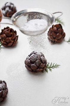 Pigne segnaposto ai cereali al cioccolato