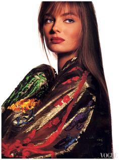 US Vogue October 1989 Photo Irving Penn Models Paulina Porizkova