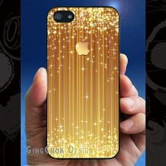 iPhone 5 case iPhone 5s case starry golden iPhone hard by gingchok, $12.50