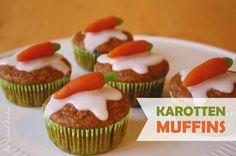 Karottenmuffins, vegan, Muffins, Möhren
