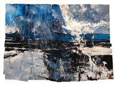 'Big Snow (St. Non's)' Mixed Media on Paper 59 x 83 cm. david tress