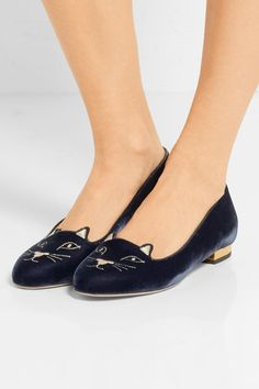 Heel measures approximately 10mm/ 0.5 inches Navy velvet Slip on Come with an adhesive Polaroid picture which can be placed on the outside of your shoe box Made in Italy