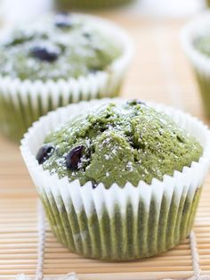 Matcha Green Tea Muffins with Kuromame | Chopstick Chronicles