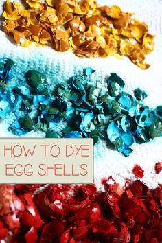 Step by step instructions on how to dye egg shells perfect for some Easter Textured Art Activities and crafts