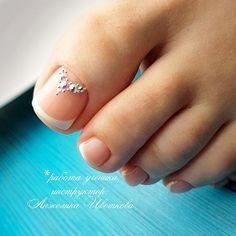 amazing toe nail colors to choose for next season page- 51 ~ mantulgan. Nail Tip Designs, Toe Designs, French Nail Designs, White Nail Designs, French Nails, French Pedicure, Pedicure Nail Art, French Tip Toes, Toe Nail Color