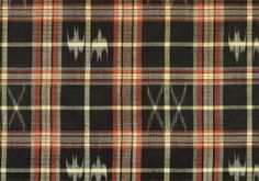 "Ikat    Detail from a Kimono pattern  Material: Silk and cotton  Ikat is called ""kasuri"" in Japanese.  19th Century  Okinawa"