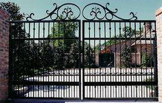 decorative wrought iron entrance gate