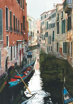 Image of Rush Hour by Linda Roberts, art, Giclee on Paper, Venice, Italy
