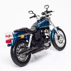 Miniatura Harley-Davidson 2004 Dyna Super Glide Sport - Maisto 1:12 - Machine Cult | Loja online especializada em camisetas, miniaturas, quadros, placas e decoração temática de carros, motos e bikes
