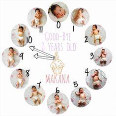 新生児から1歳までの変化がわかる手作り「#成長時計」が素敵です♡ - Yahoo! BEAUTY Baby Scrapbook Pages, Baby Boy Scrapbook, Cute Baby Girl Photos, Baby Pictures, Baby Corner, Baby Posters, Baby Memories, Baby Album, Newborn Baby Photography