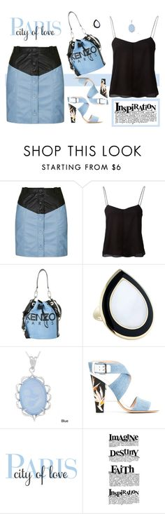 """""""Inspiration"""" by molly2222 ❤ liked on Polyvore featuring Topshop, T By Alexander Wang, Kenzo, Ippolita, Kabella Jewelry and Fendi"""