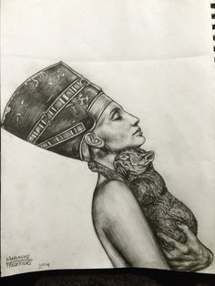 Nefertiti by mariannefredericks.deviantart.com on @DeviantArt More