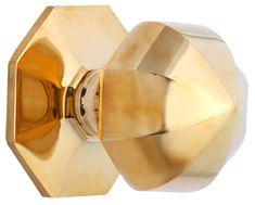 2 1/2 Inch Heavy Solid Brass Umbrella Knob (Polished Brass Finish)