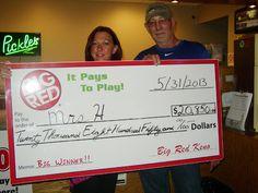 Monika won $20,850 playing Big Red Keno in LINCOLN! Congratulations!