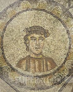 Italy - Friuli Venezia Giulia Region - Aquileia (Udine province). The Patriarchal Basilica of Aquileia (UNESCO World Heritage List, 1998). Mosaic - The Seasons - Spring