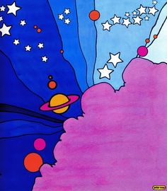 Peter Max is so definitive of the 70's art world for me.