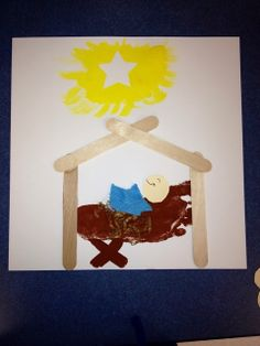 Nativity Craft with directions. Comment with your favorite Christmas craft!