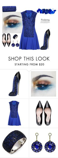 """""""BLUE DREAMS"""" by rebeccadavisblogger ❤ liked on Polyvore featuring Carolina Herrera, Talbot Runhof, Effy Jewelry, Color My Life and Dasein"""