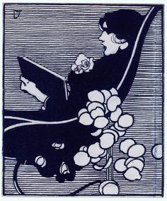 Joseph Simpson: Design for a bookplate (c. 1879-1900)