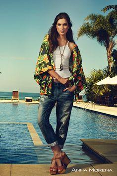 Anna Morena   Spring Summer Collection 2015   Coleção Primavera Verão 2015   Regata; Kimono; Calça jeans; Tendência; Moda feminina; Trend.