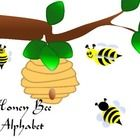 Honey Bee Alphabet (Word Wall Tags)