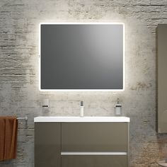SONIA BATH | Bathroom  Mirrors. Basic with background light brings originality and simplicity together.