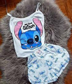 Cute Pajama Sets, Cute Pjs, Cute Pajamas, Stitch Toy, Cute Stitch, Lilo And Stitch, Cute Disney Outfits, Cute Lazy Outfits, Cute Sleepwear