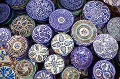 Moroccan Plates-I'd keep it two toned and many different designs.