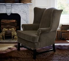 Thatcher Upholstered Wingback Chair