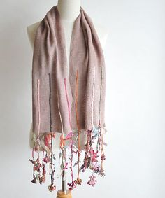 Sophie Digard crochet scarf This could be knotted with a crochet fringe Chunky Knit Scarves, Crochet Scarves, Crochet Shawl, Free Crochet, Knit Crochet, Mens Infinity Scarf, Crochet Fringe, Crochet Winter, Indian Designer Outfits