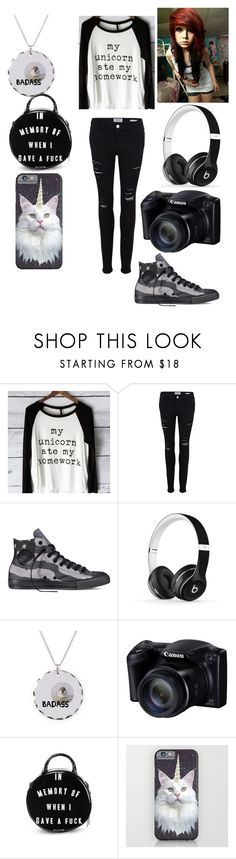 """""""Untitled #33"""" by darkcreator ❤ liked on Polyvore featuring Frame Denim, Converse, Beats by Dr. Dre, women's clothing, women's fashion, women, female, woman, misses and juniors"""