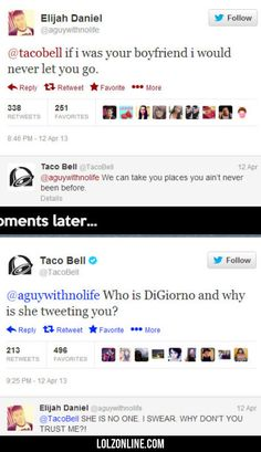 Tacobell, If I Was Your Boyfriend I Would Never..#funny #lol #lolzonline
