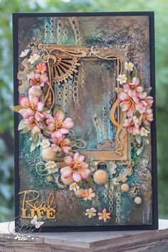 Dusty_attic_Real_Life (1), Card with flowers