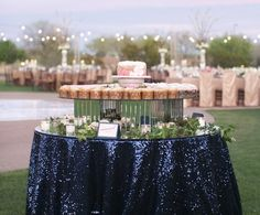 navy overlay cake dessert or candy tables or all