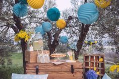 Sous Le Lampion / Lantern and Lampion Decoration Buffet, Deco Buffet, Table Decorations, Brother Birthday, Paper Lanterns, Beach Party, Communion, Special Events, Shower Baby