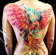 Watercolor Phoenix. I definitely want one somewhere.